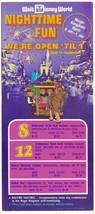 1973 walt disney world Magic Kingdom Flyer - $28.05