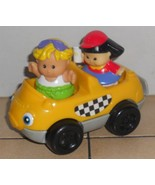 Fisher Price Current Little People Taxi with 2 figures FPLP Accessory - $9.50