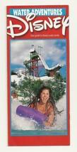walt disney world Water Adventures brochure guide Typoon Lagoon Blizzard... - $14.03