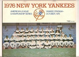 1976 ALCS Championship program Royals @ Yankees - $51.43