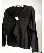 Black  100% Cotton Robin Sinkler Jersey Top Lg - $10.00