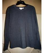 Dark Grey long sleeve Cotton Jersey L - $5.00