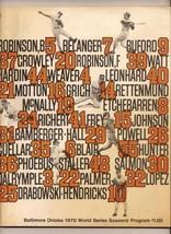 1970 World Series Program Reds @ Orioles - $79.48