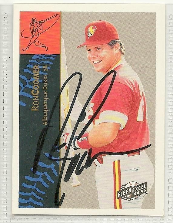 Ron Coomer Signed autographed Card 1994 Fleer Excel