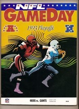 1993 NFC Divisional Playoff Program Giants @ 49ers - $44.55