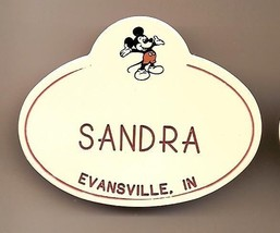 Walt Disney World Cast Member Name tag Sandra Rare Vintage VHTF - $23.38