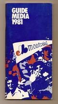 1981 Montreal Expos Media guide MLB Baseball - $18.70