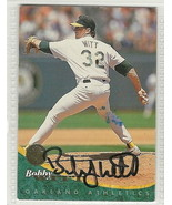 bobby witt signed autographed card 1994 leaf - $9.50