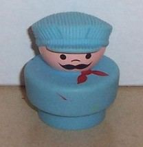Vintage 90's Fisher Price Chunky Little People Conductor figure #2373 FPLP - $5.90