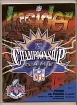 1998 NFC Championship Game Program Falcons @ Vikings - $88.83