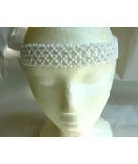 Pearlized White Beaded Headband - $5.00