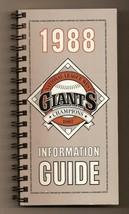 1988 San Francsico Giants Media guide MLB Baseball - $18.70