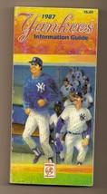 1987 New York Yankees Media Guide MLB Baseball - $18.70