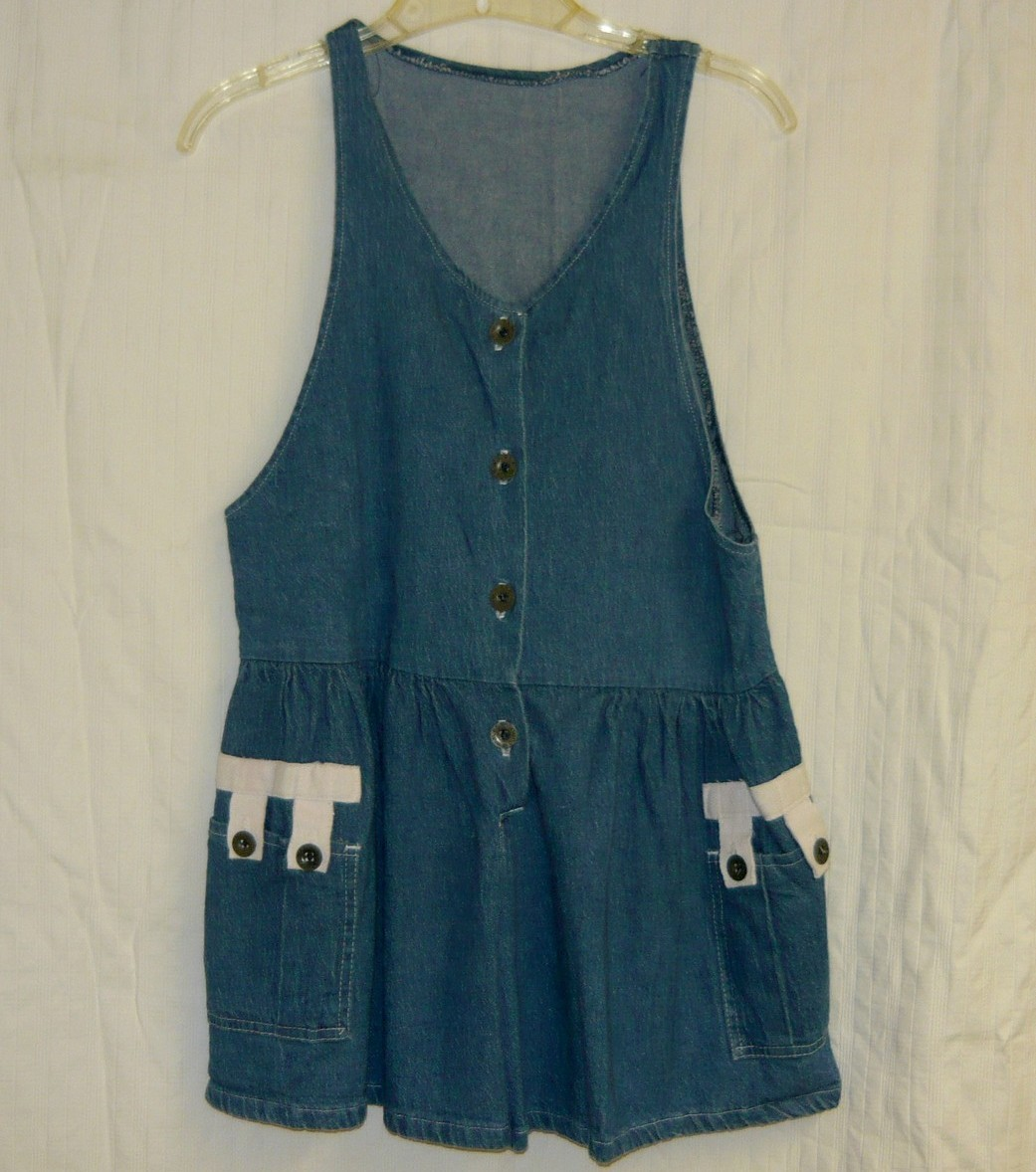 Vintage denim playsuit sz. M - $10.00