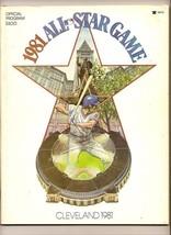 1981 MLB All Star Game Program Cleveland - $32.73