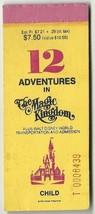 Walt Disney World Child Used Attraction ticket Booklet Vintage Rare 70's - $18.70