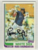 ross baumgarten signed autographed card 1982 topps - $9.90