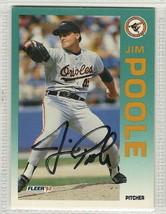 jim poole signed autographed card 1992 fleer - $9.90