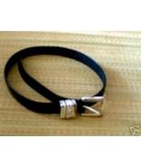 Black w/silver Leather Belt - $10.00