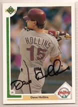 dave hollins signed autographed card 1991 Upper Deck - $9.90