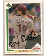 dave hollins signed autographed card 1991 Upper Deck - $9.50