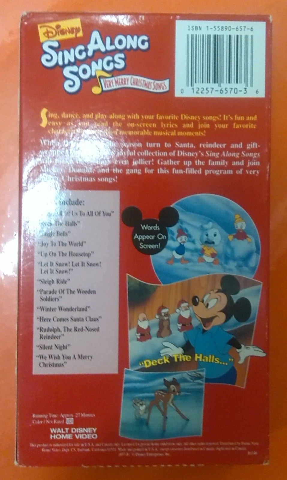 Disney Sing Along Songs Christmas Vhs.Disney S Sing Along Songs Very Merry And 16 Similar Items