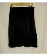 Black Half Slip With Lace M - $5.00