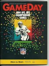 1984 NFC Championship game  Program Bears 49ers - $84.15