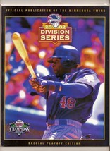 2002 ALDS Game program A's @ Twins Division Series - $70.13