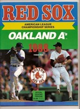 1988 ALCS Game program A's @ Red Sox Championship - $42.08