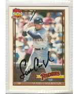 scott coolbaugh signed autogarphed card 1991 topps traded - $9.50