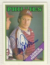 lance parrish signed autographed card 1988 topps WS Champ - $9.50