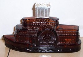 vintage 1972 avon STEAMBOAT Decanter Bottle - $9.50