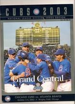 2003 NLDS Game Program Cubs Braves - $79.48
