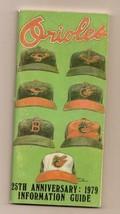1979 Baltimore Orioles media Guide MLB Baseball - $32.73