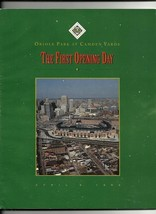 1992 First Game Program at Oriole Park - $70.13