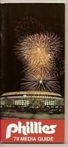 1978 philadelphia Phillies Media Guide MLB Baseball - $32.73