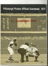 1971 NLCS Game program Giants @ Pirates NL Championship - $833.50