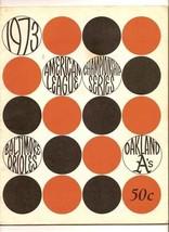 1973 ALCS Game program A's @ Orioles AL Championship - $79.48