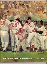 1971 World Series program Pirates @ Orioles - $79.48