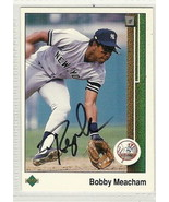 bobby meacham signed autographed card 1989 upper deck - $9.50