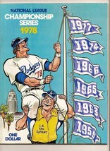 1978 NLCS Game program Phillies @ Dodgers NL Championship - $32.73