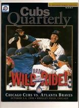 1998 NLDS Game program Cubs Braves Division Wrigley - $79.48