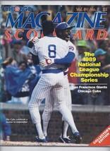 1989 NLCS Championship Program Giants Cubs - $44.55