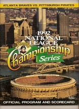 1992 NLCS Program Atlanta @ Pirates Championship - $44.55