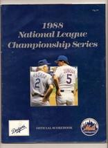 1988 NLCS Game program Dodgers @ Mets Championship - $44.55