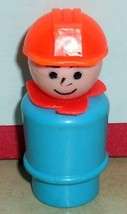 Vintage 80's Fisher Price Little People Construction worker #942 943 944 - $5.90