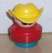 Vintage 90's Fisher Price Chunky Little People Farmer Ted figure #2555 FPLP - $5.90