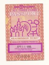 1996 Walt Disney World ticket pass - $28.05