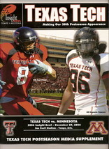 2006 Insight Bowl Game Texas Tech Media Guide - $32.73